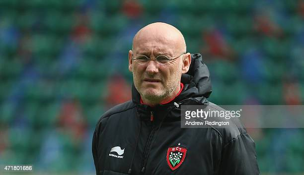Bernard Laporte coach of Toulon is pictured during the European Rugby Champions Cup Captain's Run at Twickenham Stadium on May 1 2015 in London...