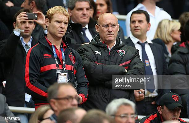 Bernard Laporte manager of Toulon looks on during the french rugby league Top 14 Final match between RC Toulon and Castres Olympique at the Stade de...