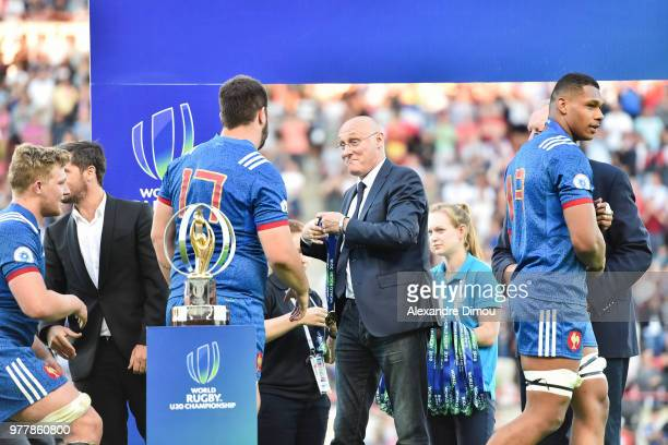 Bernard Laporte President of French Federation of Rugby during the Final World Championship U20 match between England and France on June 17 2018 in...
