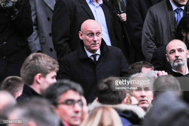 Bernard Laporte president of the French Rugby Federation after the Funeral of Stade Francais rugby player Nicolas Chauvin on December 19 2018 in...