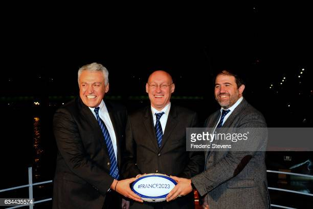 Bernard Laporte who has just been elected president of the French rugby federation in December 2016 Serge Simon vice president of France Rugby...