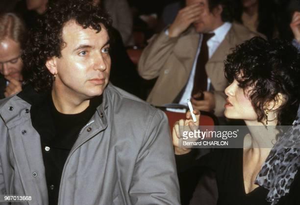 Bernard Lavilliers et Lisa Lyon à un concert le 28 octobre 1981 à Paris France