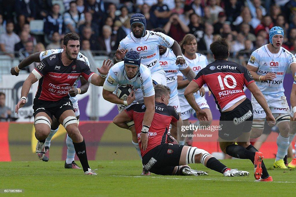 Racing Metro 92 V Racing club de Toulon - top 14 rugby At Atade Yves du Manoir In Colombes