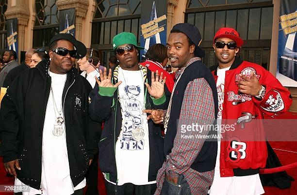 Bernard Leverette Jamall Willingham Maurice Gleaton and Gerald Tiller of Dem Franchize Boyz arrives at the 2006 American Music Awards held at the...