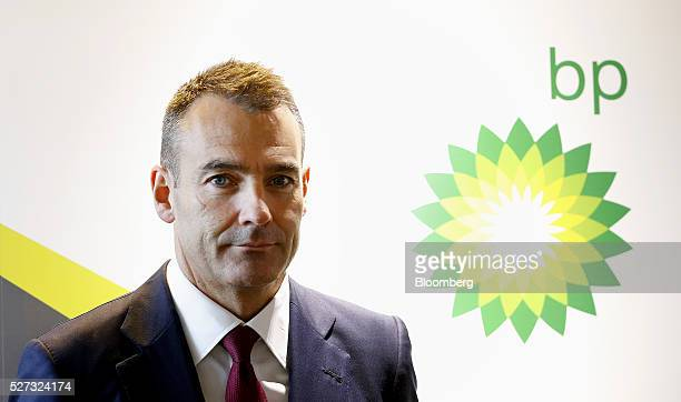 Bernard Looney chief executive officer of BP Plc's Upstream division stands for a photograph during the 2016 Offshore Technology Conference in...