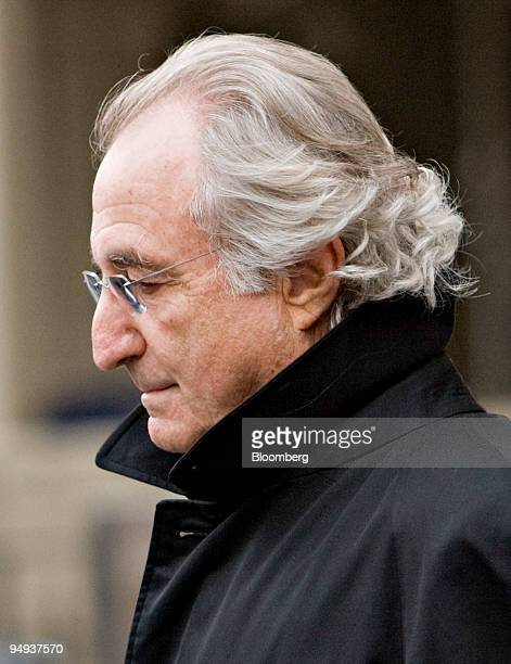 Bernard Madoff founder of Bernard L Madoff Investment Securities LLC leaves federal court after a bail hearing in New York US on Wednesday Jan 14...