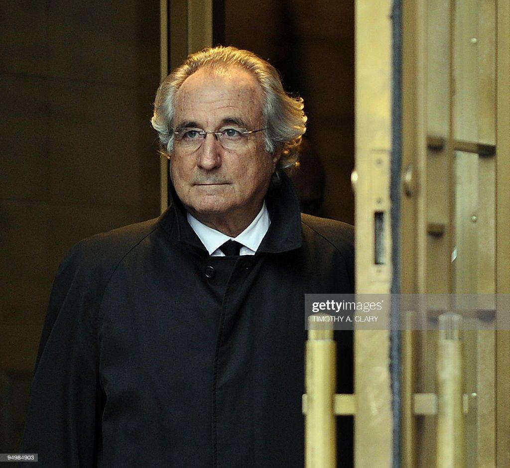 Bernard Madoff leaves US Federal Court a : News Photo