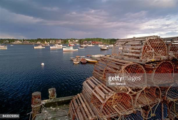 bernard, maine-1 - lobster fishing stock photos and pictures