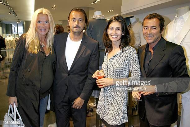 Bernard Montiel Adeline Blondiau Henri Leconte and Florentine in Paris France on May 29 2007