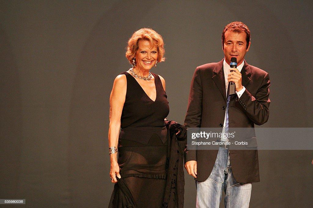 Bernard Montiel and Claudia Cardinale attend the 'Faire face au SIDA Foundation' AIDS gala benefit.