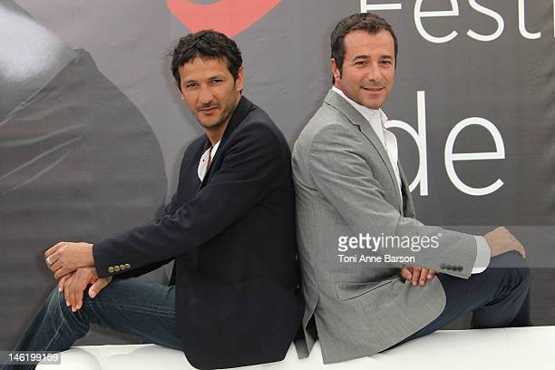Bernard Montiel and Kamel Belghazi attend 'Section De Recherches' photocall at the Grimaldi Forum on June 11, 2012 in Monte-Carlo, Monaco.