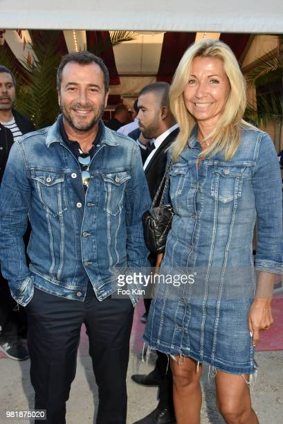 Bernard Montiel and Natty Belmondo attend Fete des Tuileries on June 22 2018 in Paris France