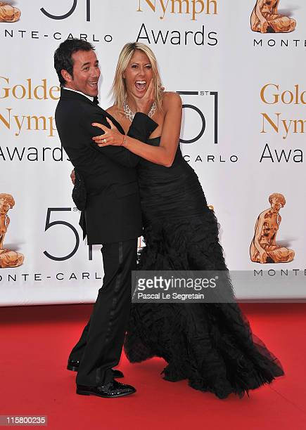 Bernard Montiel and Rachel Bourlier arrive to attend the closing ceremony of the 51st Monte Carlo TV Festival at the Grimaldi forum on June 10 2011...