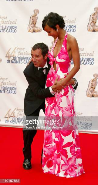 Bernard Montiel and Sonia Rolland during 44th Monte Carlo Television Festival Stauffenberg Screening and Opening Ceremony Arrivals at Grimaldi Forum...