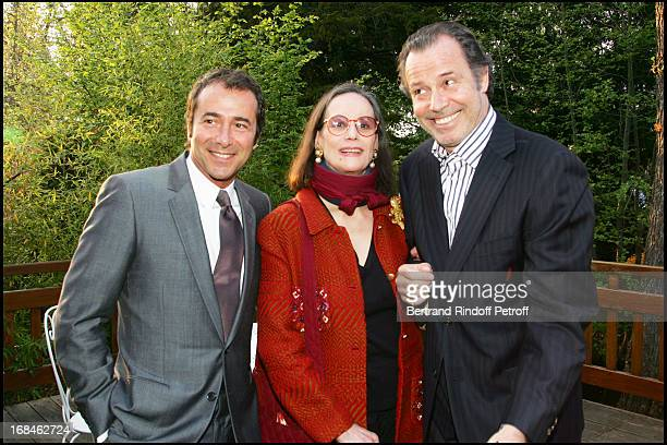 Bernard Montiel Claudine Auger and Michel Leeb at Party Action For Innocence Supported By The Maison Piaget