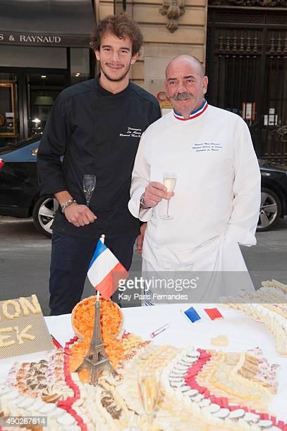 Bernard MureRavaud past winner of the best cheese maker attends the 'Fromage Fashion Week Menu' on September 27 2015 in Paris France