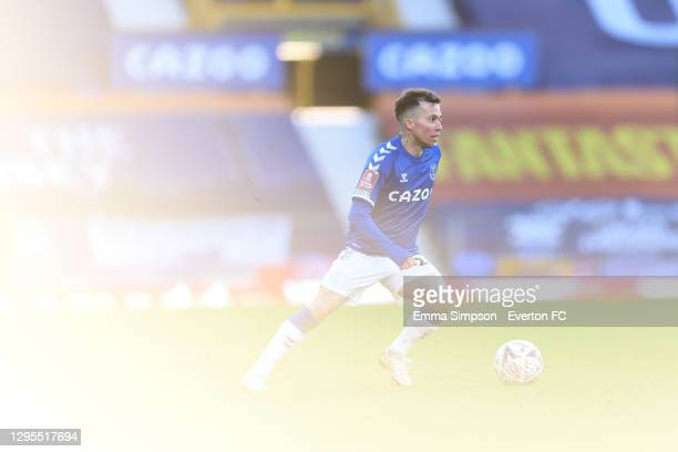 Bernard of Everton during the FA Cup Third Round match between Everton and Rotherham United at Goodison Park on January 9 2021 in Liverpool, England.