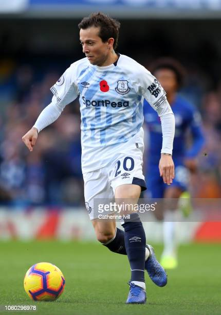 Bernard of Everton during the Premier League match between Chelsea FC and Everton FC at Stamford Bridge on November 11 2018 in London United Kingdom