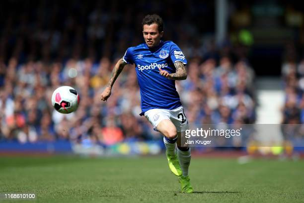 Bernard of Everton during the Premier League match between Everton FC and Watford FC at Goodison Park on August 17 2019 in Liverpool United Kingdom