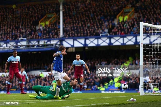 Bernard of Everton scores a goal to make it 10 during the Premier League match between Everton FC and West Ham United at Goodison Park on October 19...