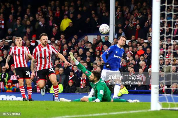 Bernard of Everton scores his side's second goal during the FA Cup Third Round match between Everton and Lincoln City at Goodison Park on January 5...
