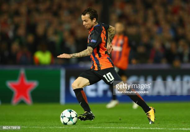 Bernard of Shakhtar Donetsk breaks through to score his sides first goal during the UEFA Champions League group F match between Feyenoord and...