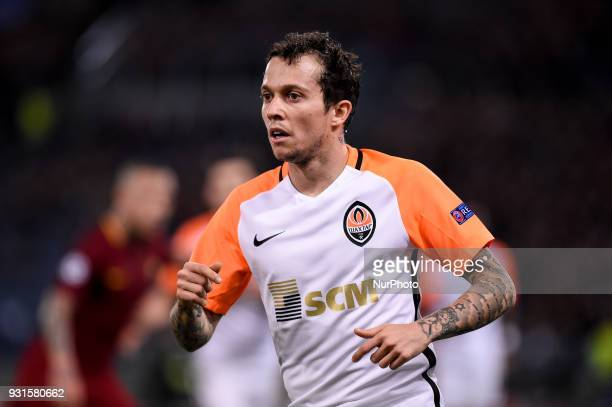 Bernard of Shakhtar Donetsk during the UEFA Champions League Round of 16 match between Roma and Shakhtar Donetsk at Stadio Olimpico Rome Italy on 13...