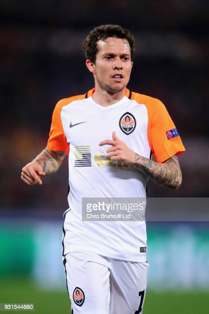 Bernard of Shakhtar Donetsk in action during the UEFA Champions League Round of 16 Second Leg match between AS Roma and Shakhtar Donetsk at Stadio...