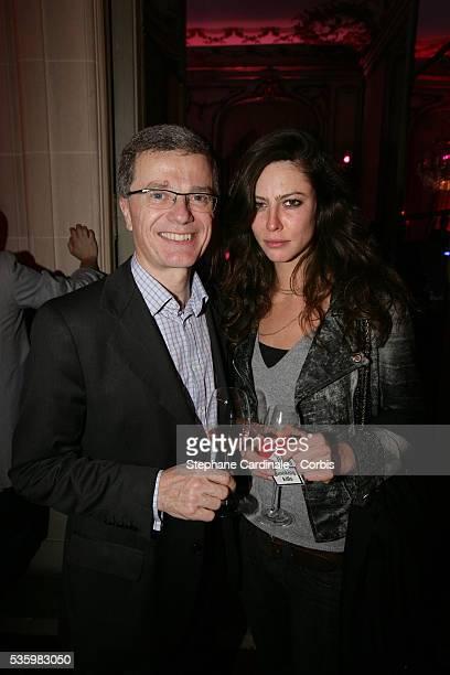 Bernard Peillon and Anna Mouglalis at the Ruinart Valentine Day Party in Paris