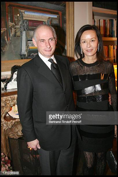 Bernard Picasso and wife Almine at Pierre Passebon Is Honoured With The Rank Of Chevalier Des Arts Et Lettres At His Galerie Du Passage In Paris