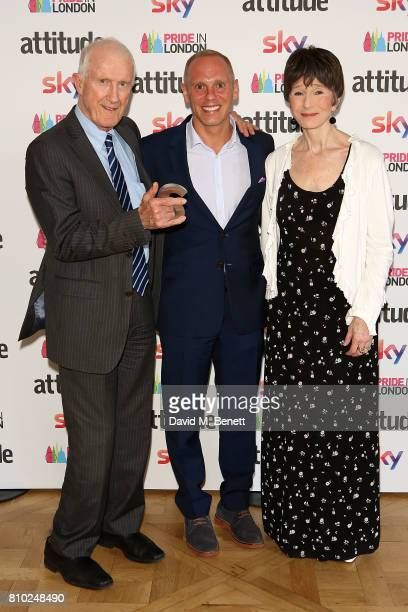 Bernard Reed Robert Rinder and Terry Reed attend The Attitude Pride Awards 2017 at Mandarin Oriental Hyde Park on July 7 2017 in London England
