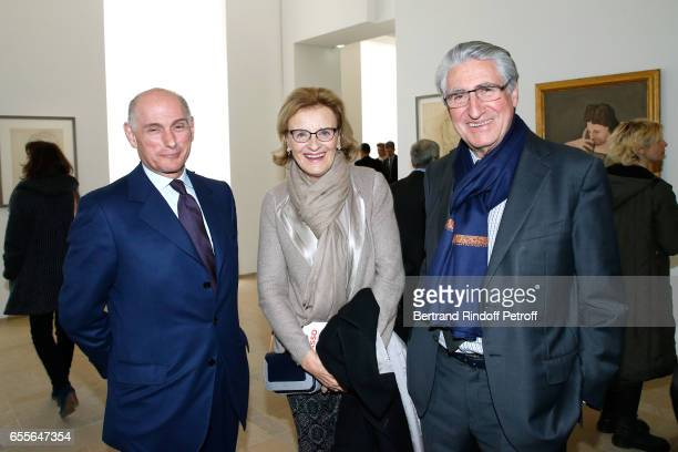 Bernard RuizPicasso Baron ErnestAntoine Seilliere and his wife Antoinette Barbey attend the 'Olga Picasso' Exhibition pivate view at Musee national...