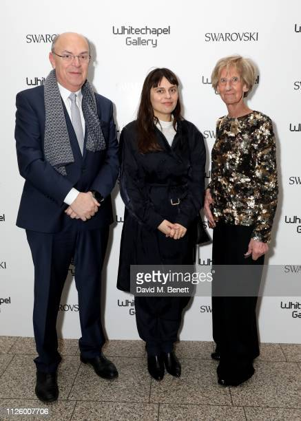 Bernard Soens Jessica Warboys and Mimi Dusselier attend a glamorous gala dinner at Whitechapel Gallery as Rachel Whiteread is celebrated as the...