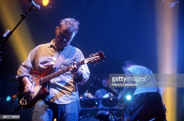 Bernard Sumner and Peter Hook of New Order performs on stage United Kingdom 1994