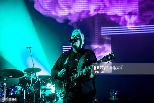 Bernard Sumner from New Order performs at O2 Academy Brixton on November 16 2015 in London England