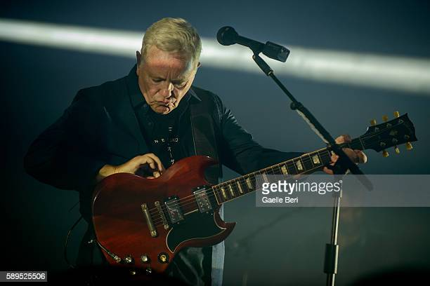 Bernard Sumner of New Order performs live at Flow Festival on August 14 2016 in Helsinki Finland