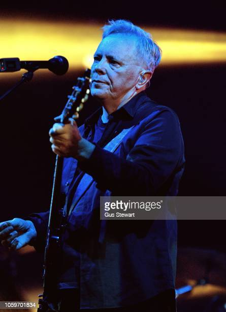 Bernard Sumner of New Order performs on stage at Alexandra Palace on November 9 2018 in London England