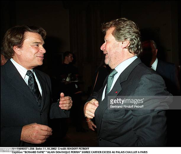 Bernard Tapie Alain Dominique Perrin Cartier Excess party at Chaillot Palace in Paris