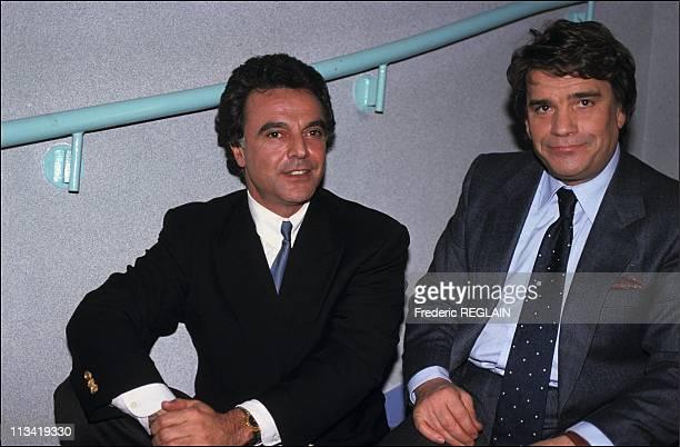 Bernard Tapie And Alain Afflelou On December 20Th1990