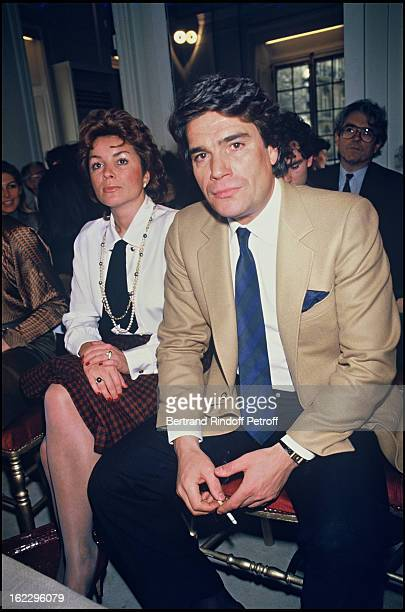 Bernard Tapie and his wife Dominique at Madame Gres collection presentation