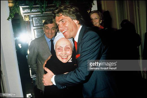 Bernard Tapie and Madame Gres behind them Lino Ventura and his wife Odette