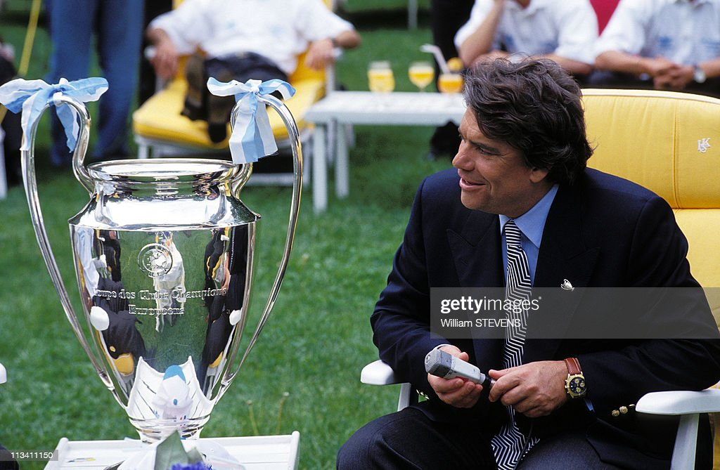 Bernard Tapie And Om Soccer Team Celebrate Victory In Champions League In Marseilles On May 27th,1993. : News Photo