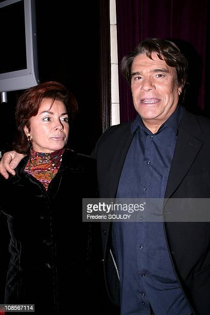 Bernard Tapie and wife Dominique in Paris France on October 21st 2004