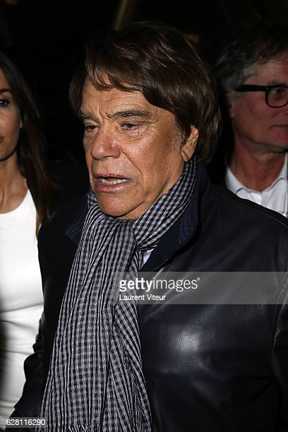 Bernard Tapie attends the Black White Party by Edouard Nahum at VIP Room Theatre on December 6 2016 in Paris France
