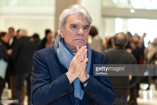 Bernard Tapie during a recess at the Paris Court, in Paris, France, on April 4, 2019.