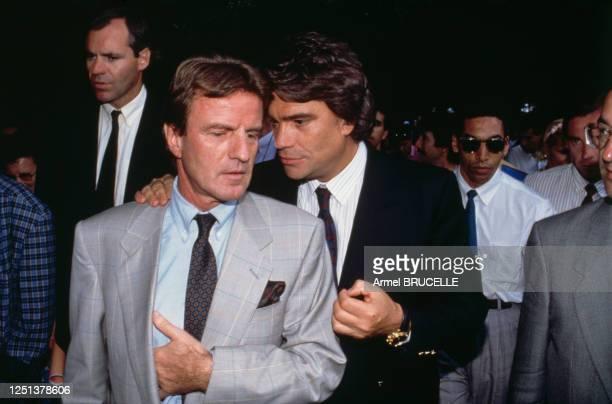 Bernard Tapie et Bernard Kouchner lors de la fête de la fraternité du P.S