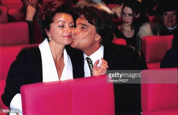 Bernard Tapie et sa femme Dominique lors du concert de JeanJacques Debout à Paris le 8 février 1996 France
