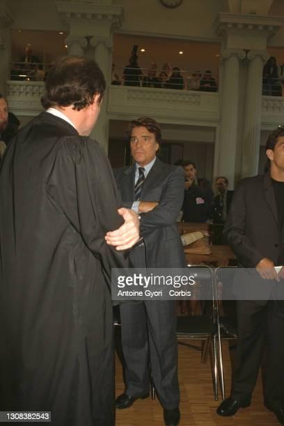 Bernard Tapie et un avocat.