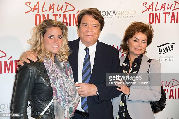 Bernard Tapie his wife Dominique Tapie and their daughter Sophie Tapie attend 'Salaud On T'Aime' Paris Premiere at Cinema UGC Normandie in Paris