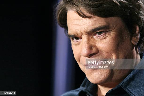 Bernard Tapie in Tv talk show Campus hosted by Guillaume Durand in Paris France on June 27th 2005